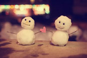 two cute snowmen