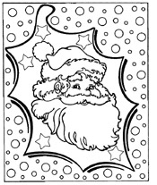 santa to color