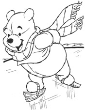 skating with pooh